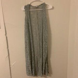 Lularoe Lace Duster Cardigan Size X Small